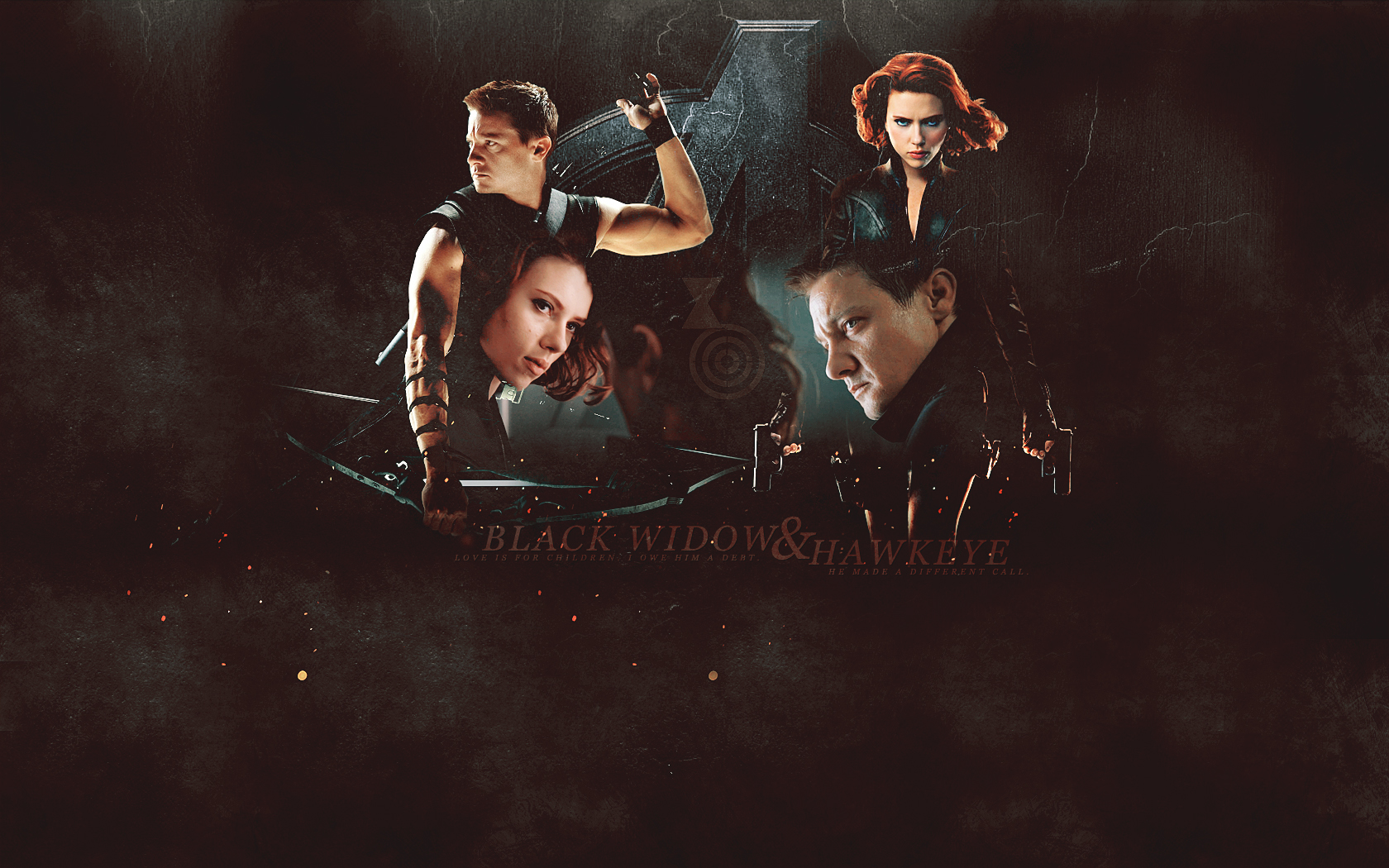 Wallpaper | The Avengers (2012) - Hawkeye/Black Widow